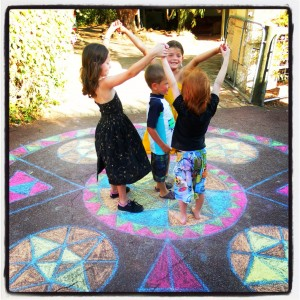 Rainbow Mandala Dancing! Yay!