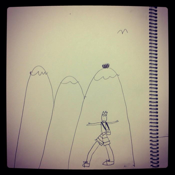 Children's Yoga Journal - Xavier - Aged 7 - Yoga Adventure in the Mountains