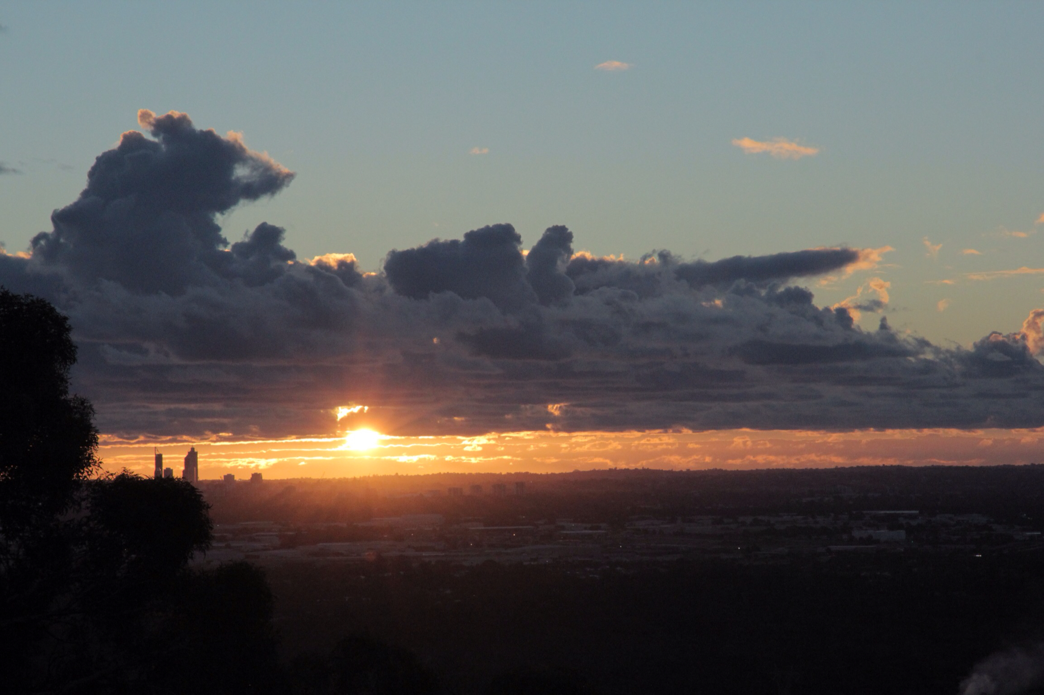 Sunset over Perth