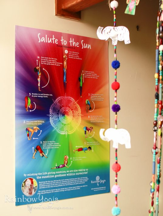 Rainbow Yogis Poster - Sun Salute - Surya Namaskara A - Close up 1