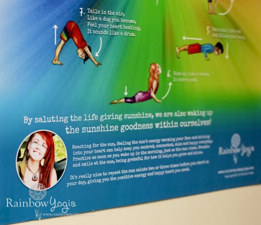Rainbow Yogis Poster - Sun Salute - Surya Namaskara A - Close up 3