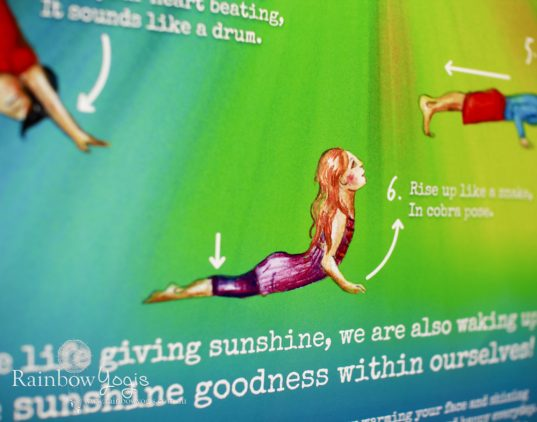 Rainbow Yogis Poster - Sun Salute - Surya Namaskara A - Close up 2