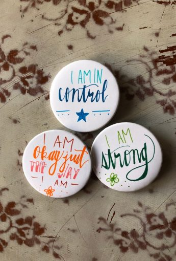 Kids Yoga And Affirmation buttons