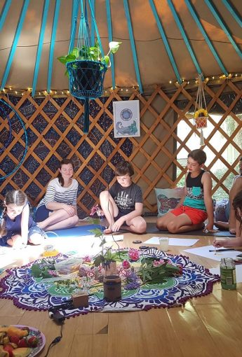Kids Yoga and Mindfulness Art School Holiday Workshop